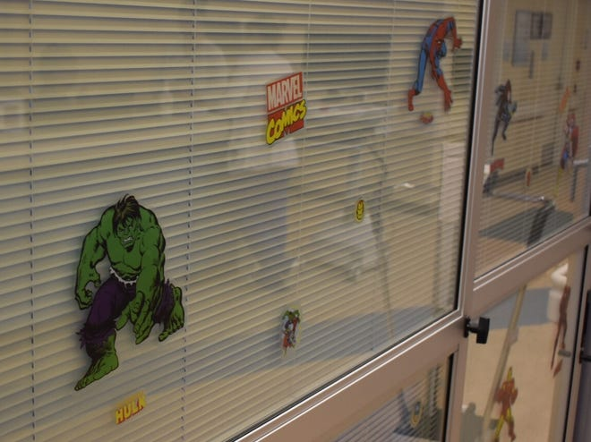 Patient rooms in the new pediatric intensive care unit at Ventura County Medical Center are decorated with comic book and cartoon characters.