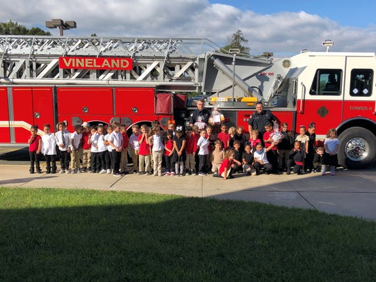 Vineland Firefighters visited Petway Elementary School in Vineland to share information about their responsibilities with the students.