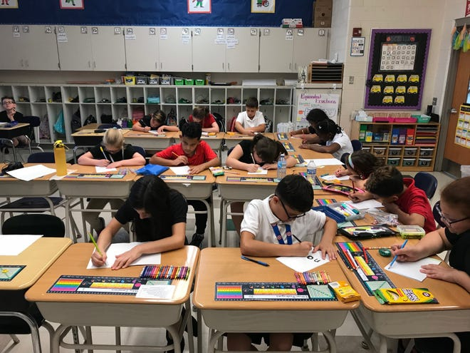 Students at Petway Elementary School in Vineland spread kindness by writing letters of thanks to Vineland Police and Fire departments for all they do.