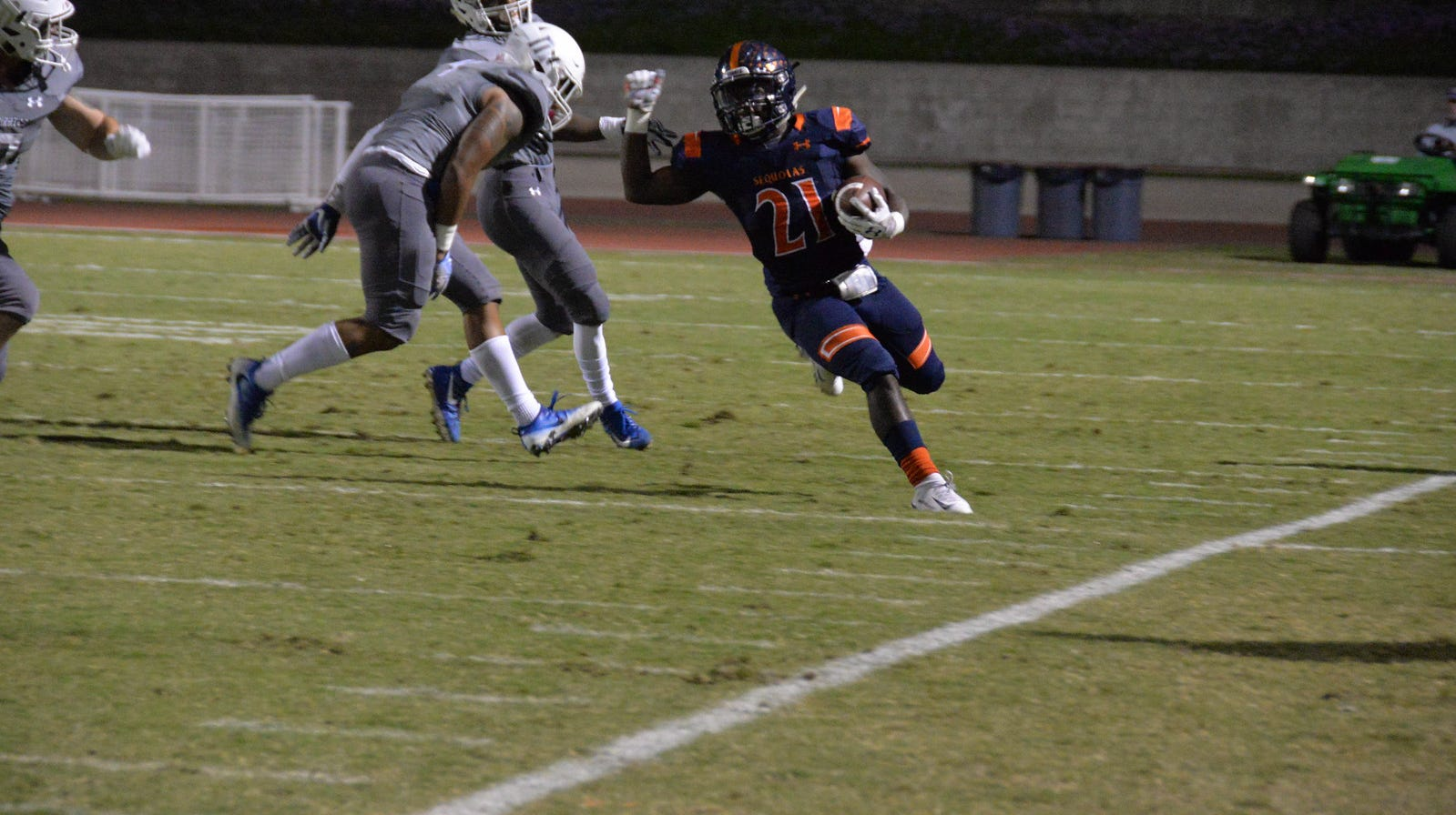 COS running back Deonte Green ran for 201 yards in the Giants' win on Saturday.
