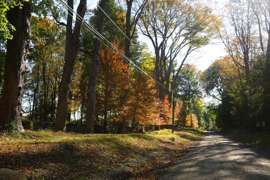 Maple Avenue is dirt road just outside Martha Stewart's house and up the road from George Soros' house in Katonah Oct. 23, 2018.