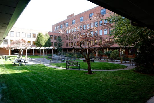The courtyard at the Shrub Oak International School in Yorktown on Oct. 23, 2018.