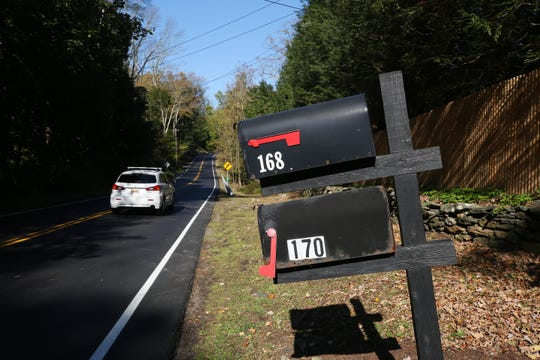The mailbox outside George Soros' house at 168 Cantitoe Street in Katonah Oct. 23, 2018.