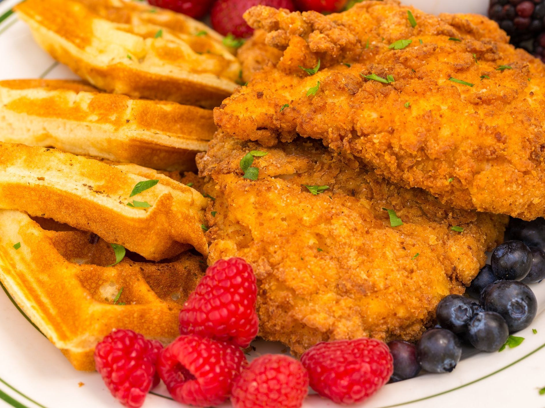 Chicken and waffles is one of the comfort foods served at the three Metro Diner locations in Delaware.
