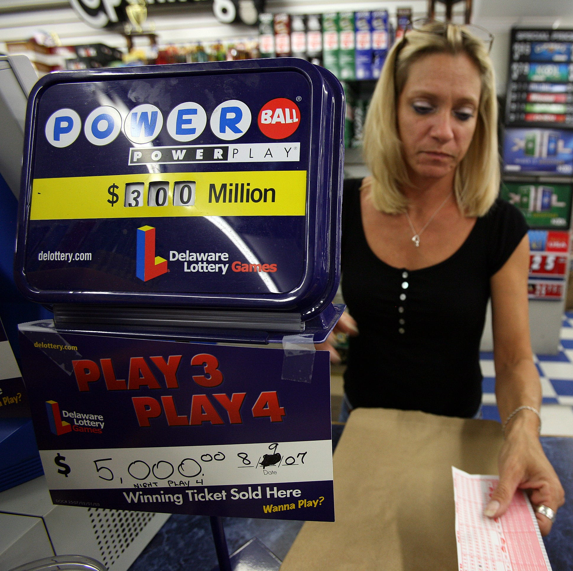 $50,000 Powerball ticket sold in Delaware; jackpot jumps to $550 million