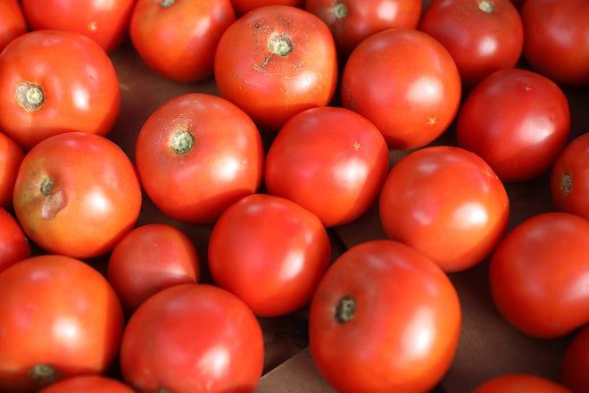 Tomatoes at the Zanesville Farmer's Market.