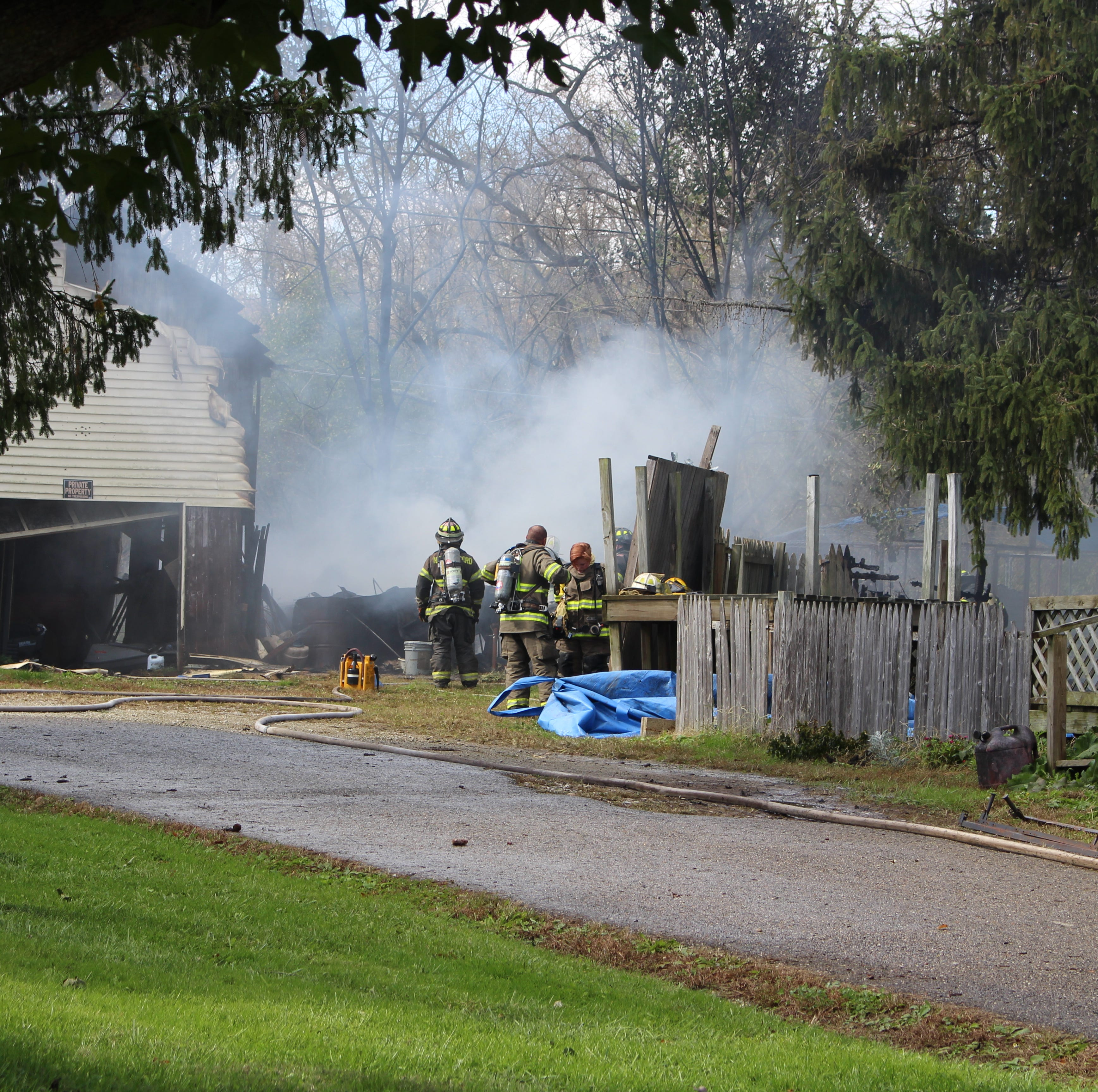 Fire crews extinguished a fire at a residence on Sonora Road Tuesday afternoon.