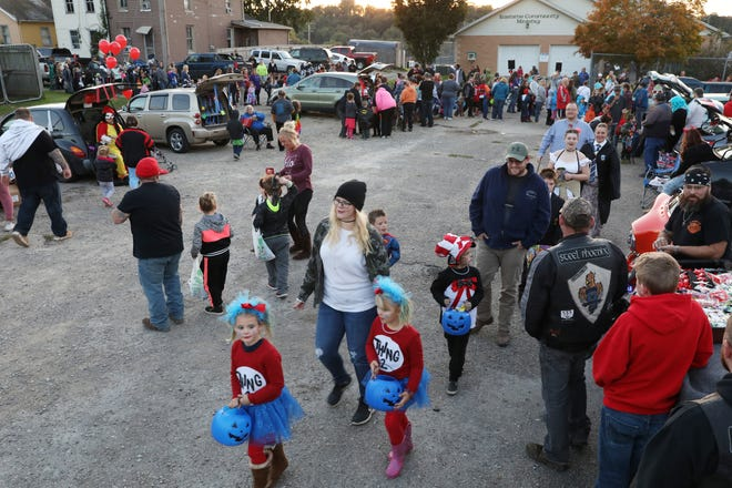 Hundreds turned out for Eastside Community Ministries' trunk-or-treat earlier this week.