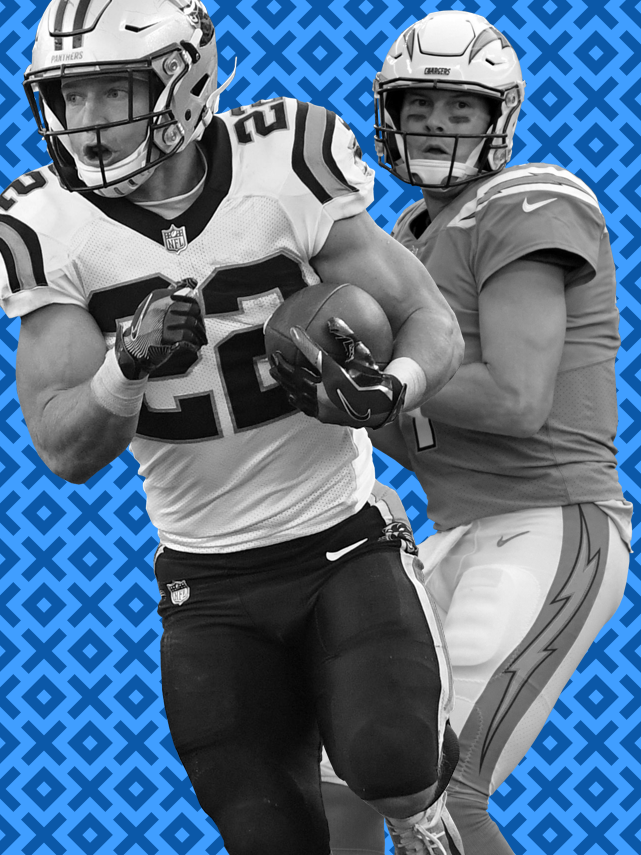 Panthers RB Christian McCaffrey (22) and Chargers QB Philip Rivers both enjoyed Week 7 victories.