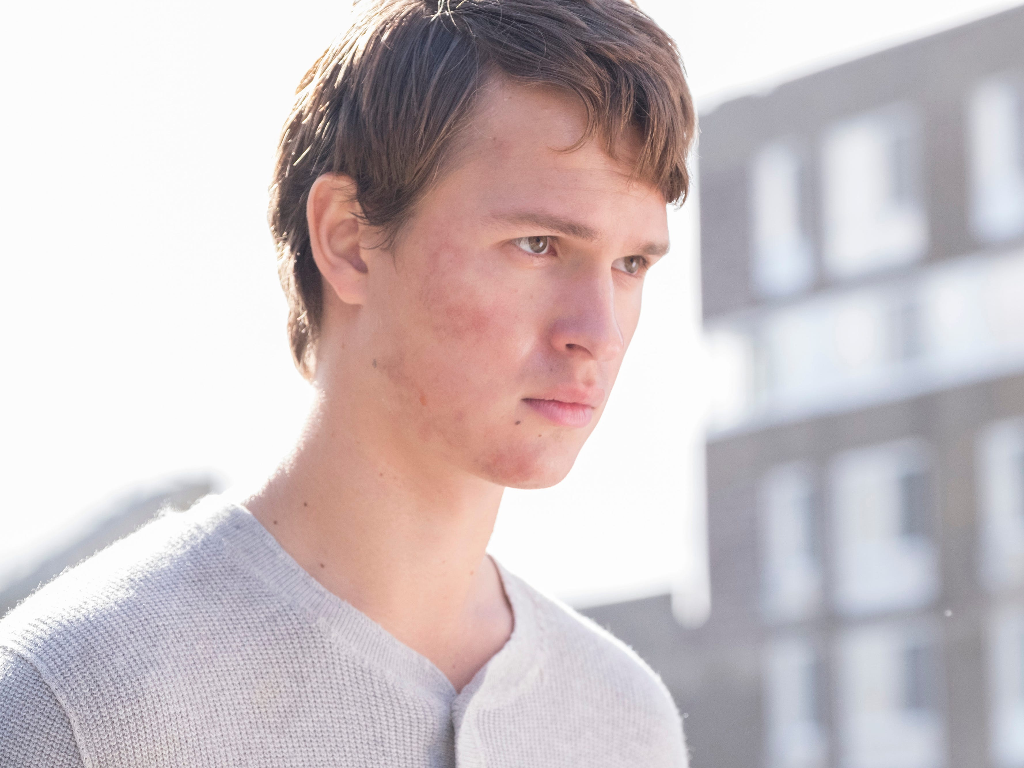 "Ansel Elgort plays two brothers living different lives in the same body in the sci-fi drama ""Jonathan."""