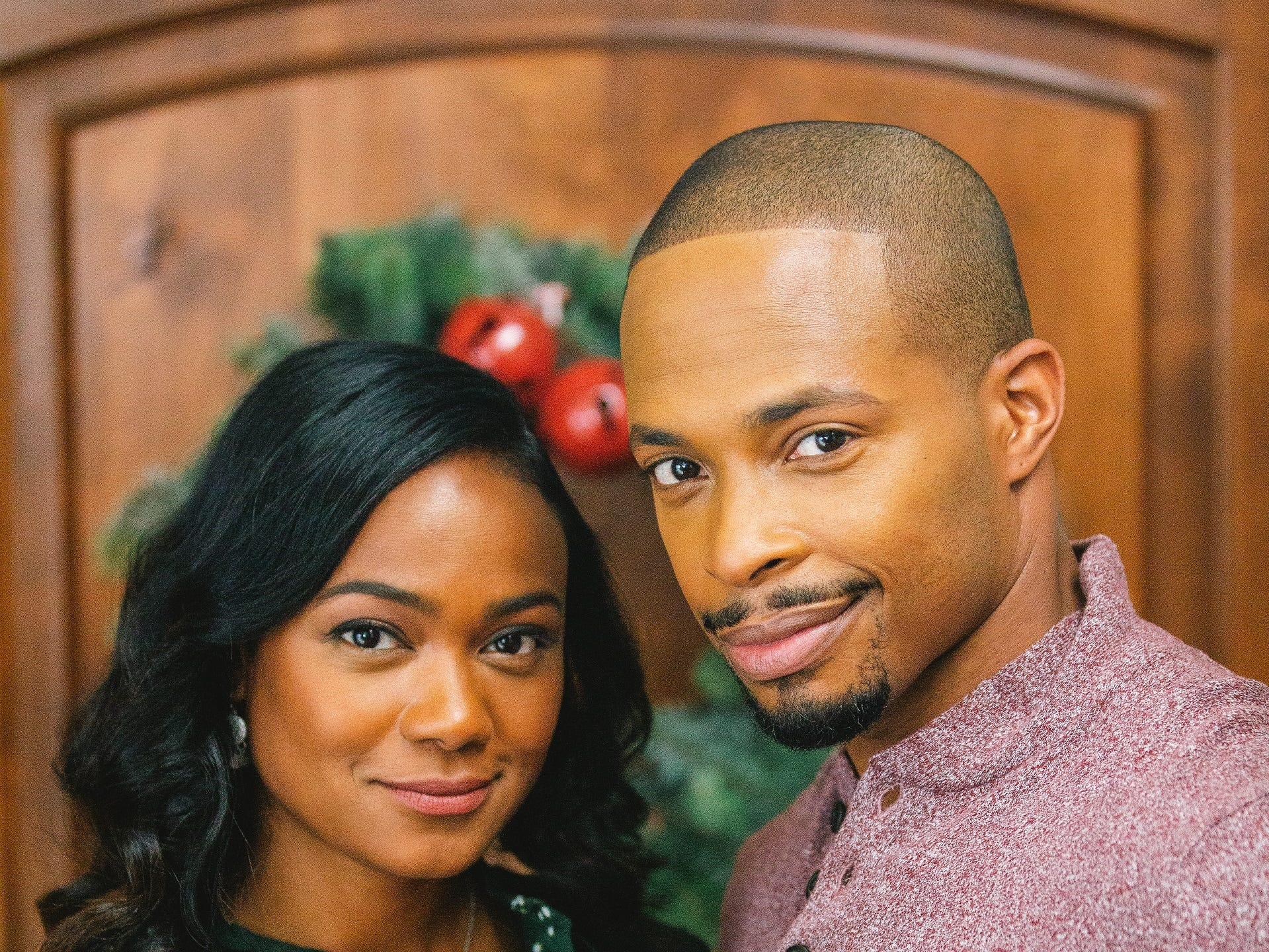 """""""Jingle Belle"""" (Lifetime, Nov. 25, 8 EST/PST):  Isabelle (Tatyana Ali) returns home to write music for her town's Christmas Eve Pageant, which is being directed by her high school sweetheart, Mike (Cornelius Smith Jr.)."""