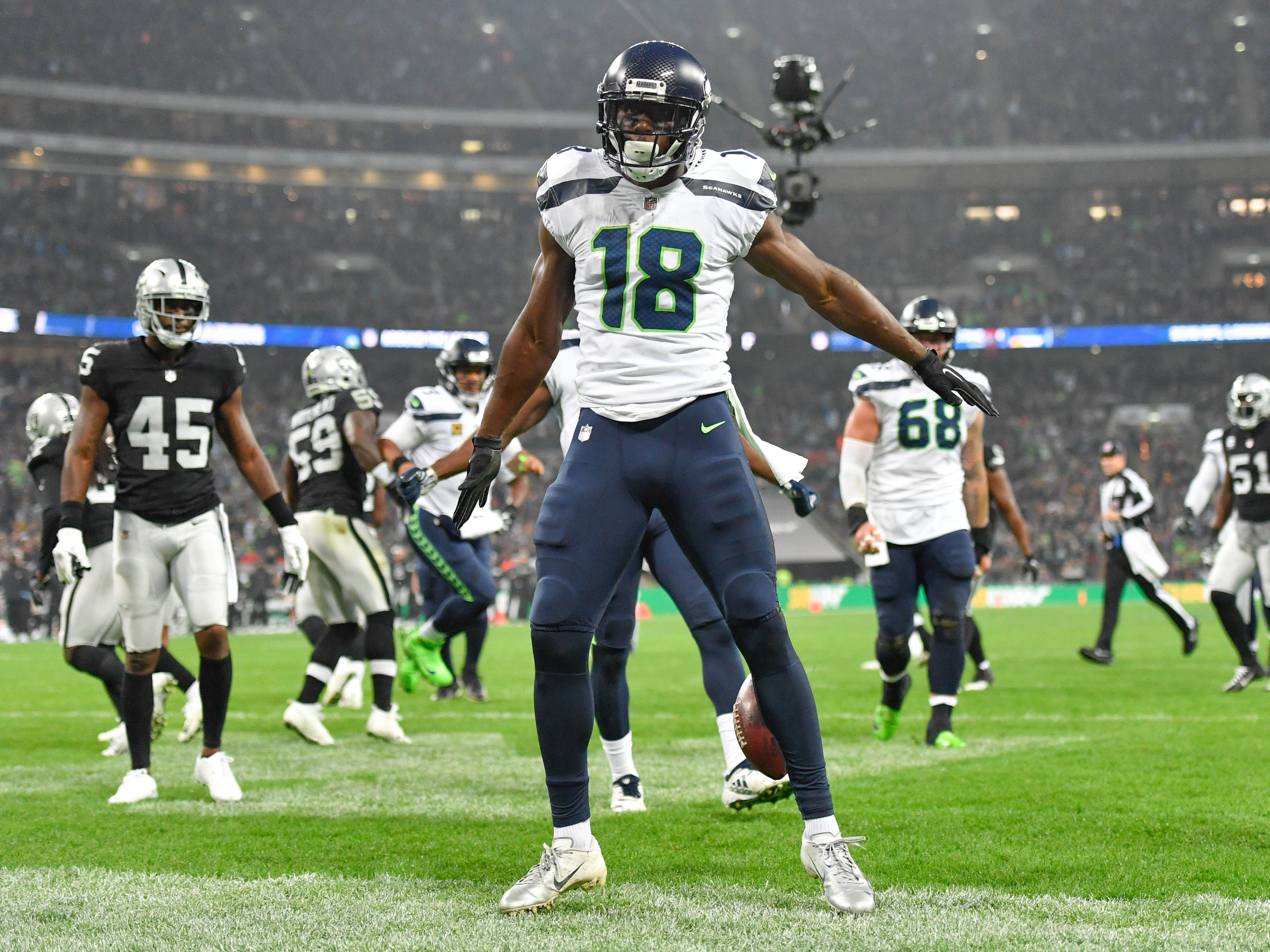16. Seahawks (17): Grieving club emerges from bye to face teeth of schedule. Next five opponents currently .500 (Detroit on Sunday) or better (other four).