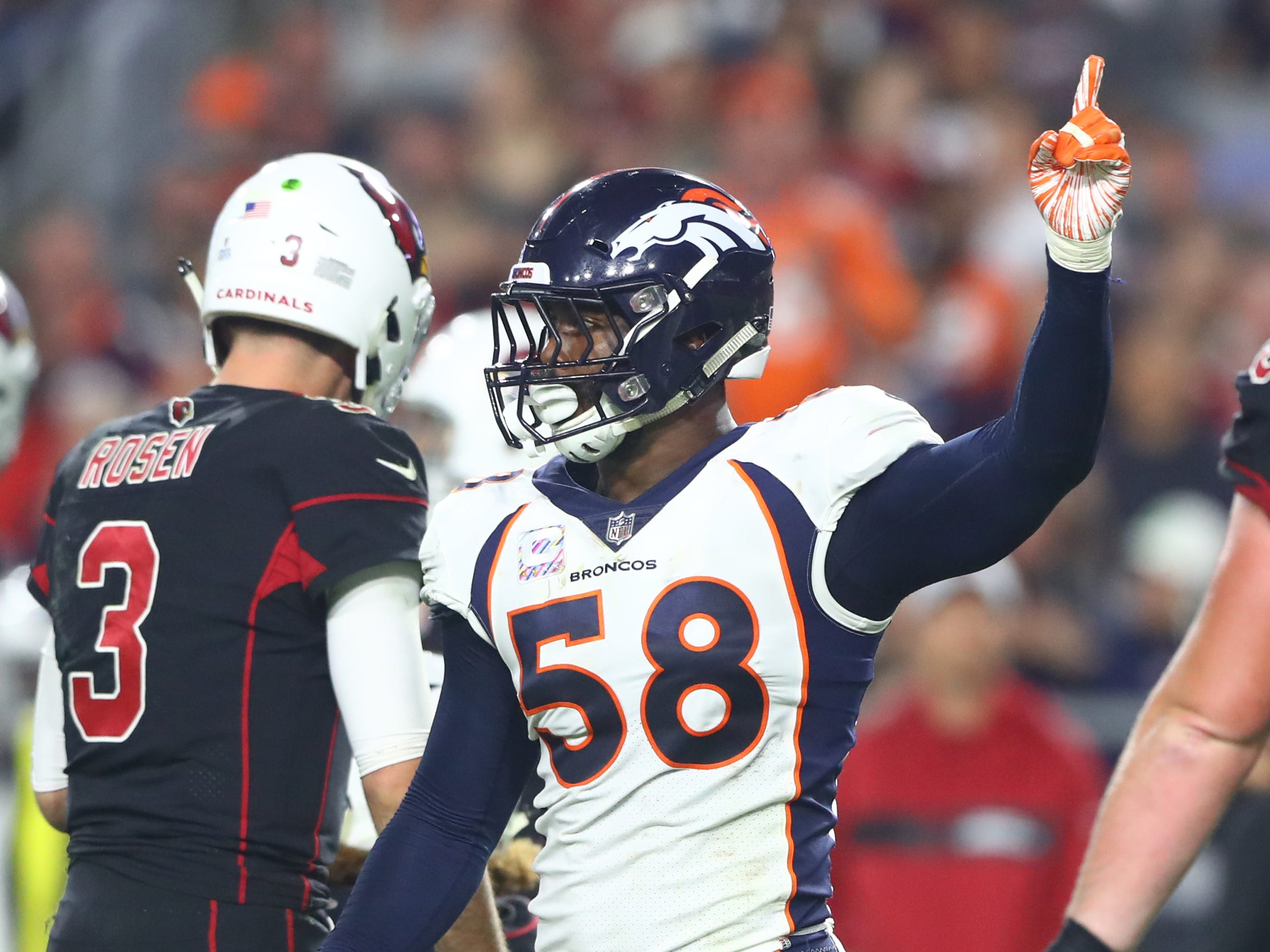 26. Broncos (25): Von Miller and rookie Bradley Chubb are coalescing into pass rushing duo GM John Elway envisioned, their 14 sacks most by two teammates.