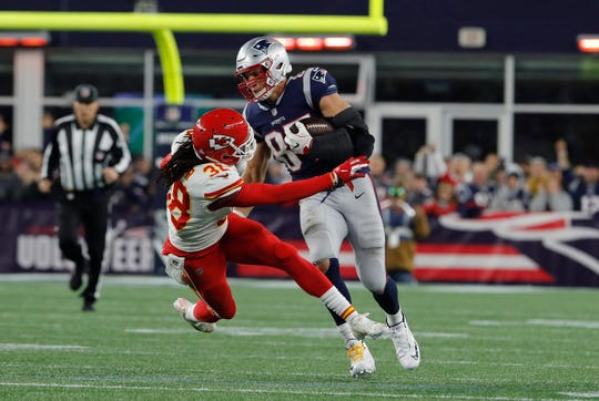 Patriots tight end Rob Gronkowski is an unstoppable force -- except when it comes to injuries. He didn't play in Week 7 but is expected back when the Pats play the Bills.