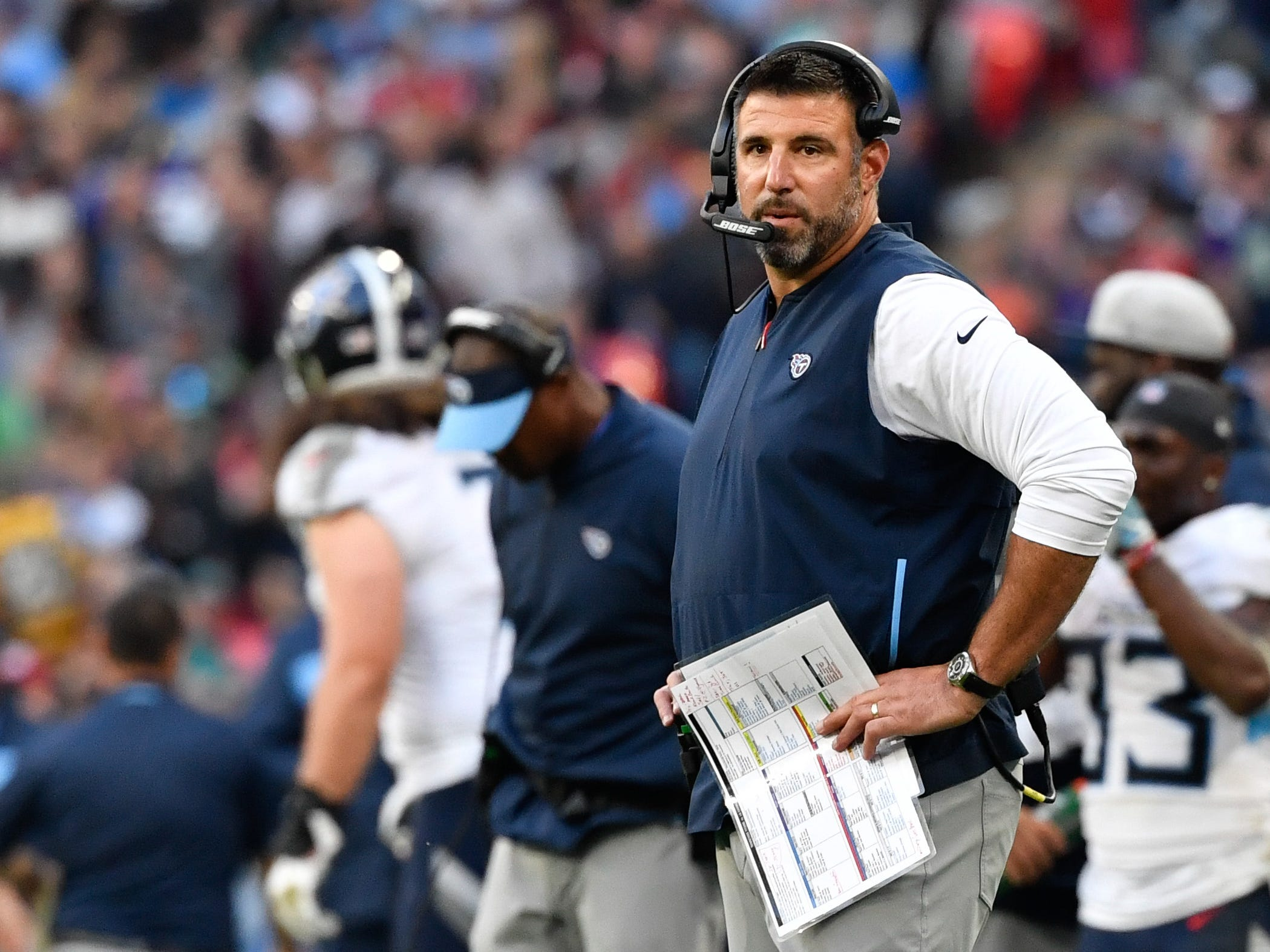 23. Titans (24): We applaud Mike Vrabel's guts as he determines what his team does well. Derrick Henry (3.3 ypc), Brian Orakpo (0 sacks) doing little well.