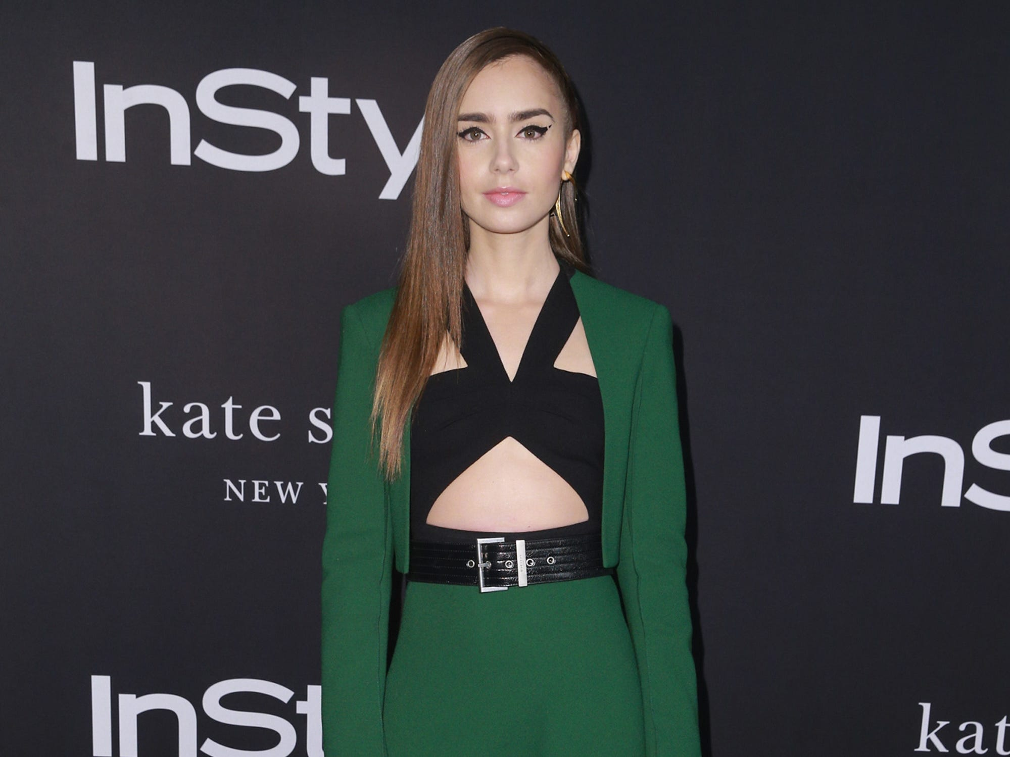 LOS ANGELES, CA - OCTOBER 22:  Lily Collins attends the 2018 InStyle Awards at The Getty Center on October 22, 2018 in Los Angeles, California.  (Photo by Rich Fury/Getty Images) ORG XMIT: 775236597 ORIG FILE ID: 1052793448