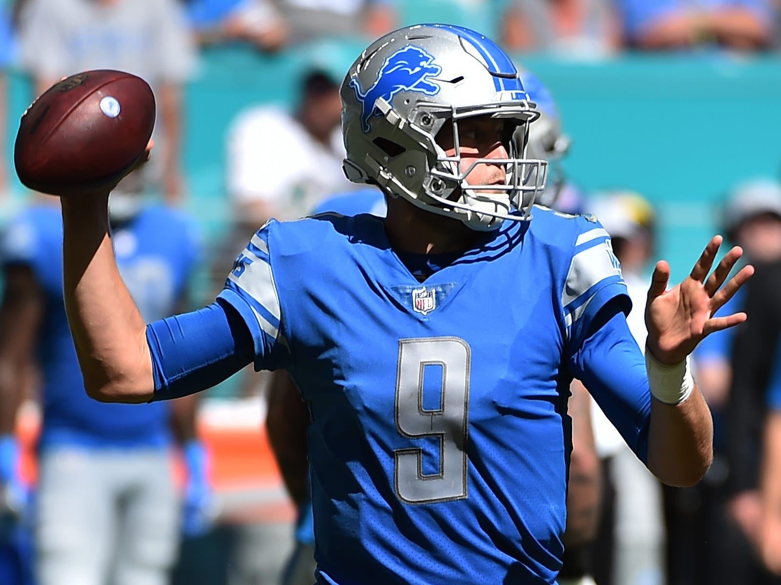 19. Lions (23): Matthew Stafford threw 22 passes Sunday, second fewest of his career in a game he completed. He threw 21 in the other, also a Detroit win.