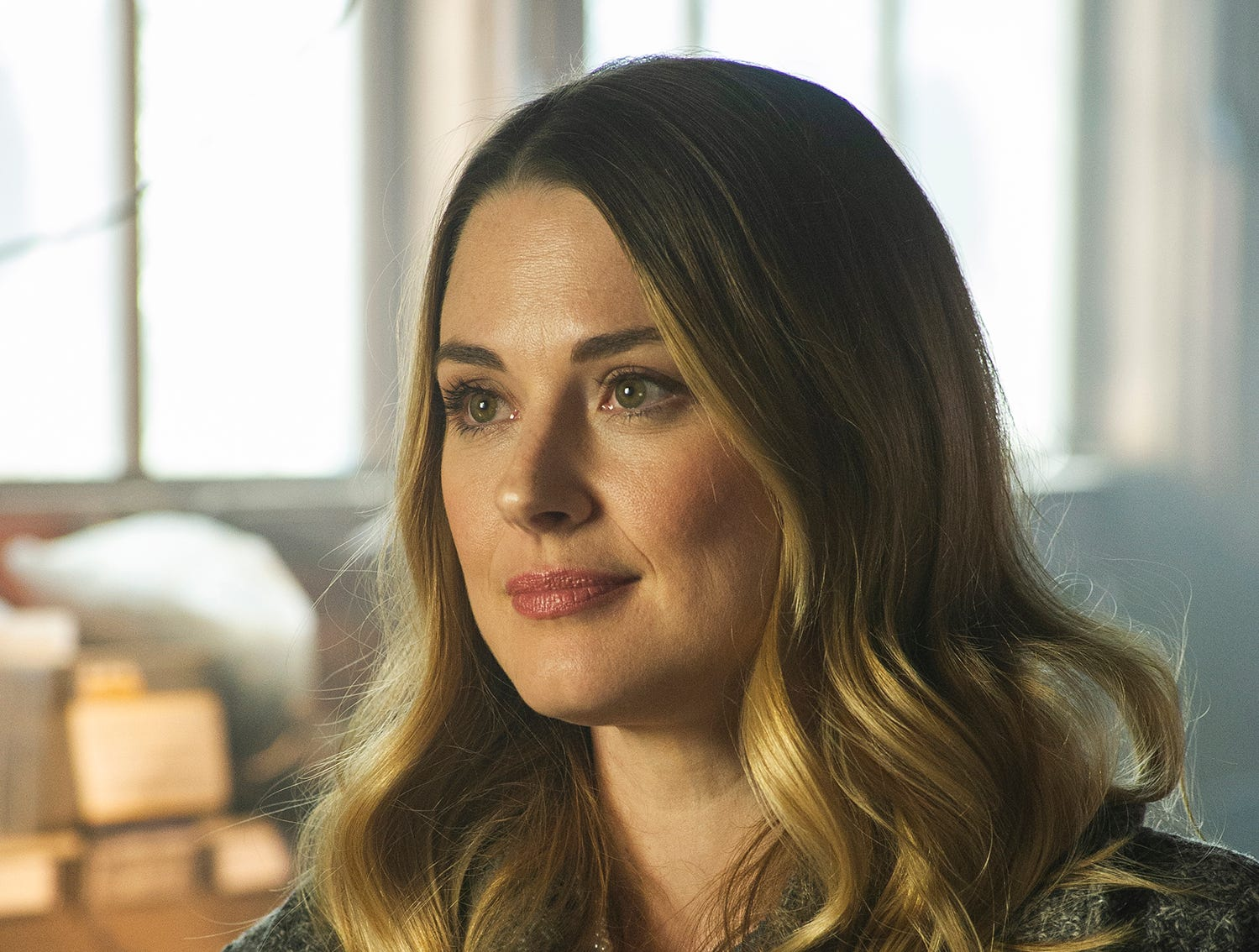 """""""Christmas Around the Corner"""" (Lifetime, Dec. 14, 8 EST/PST): Claire (Alexandra Breckenridge) tries to help a struggling small-town bookstore owned by Andrew (Jamie Spilchuk)."""