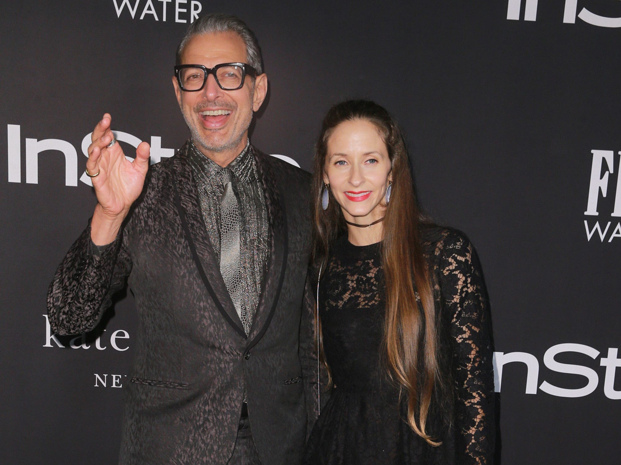 LOS ANGELES, CA - OCTOBER 22: Jeff Goldblum (L) and Emilie Livingston attend the 2018 InStyle Awards at The Getty Center on October 22, 2018 in Los Angeles, California.  (Photo by Rich Fury/Getty Images) ORG XMIT: 775236597 ORIG FILE ID: 1052793788