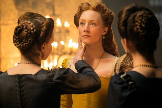 """""""Mary Queen of Scots"""" (R): Saorise Ronan and Margot Robbie star in this vivid retelling of rival royal cousins whose alliance swiftly turns bloody. 