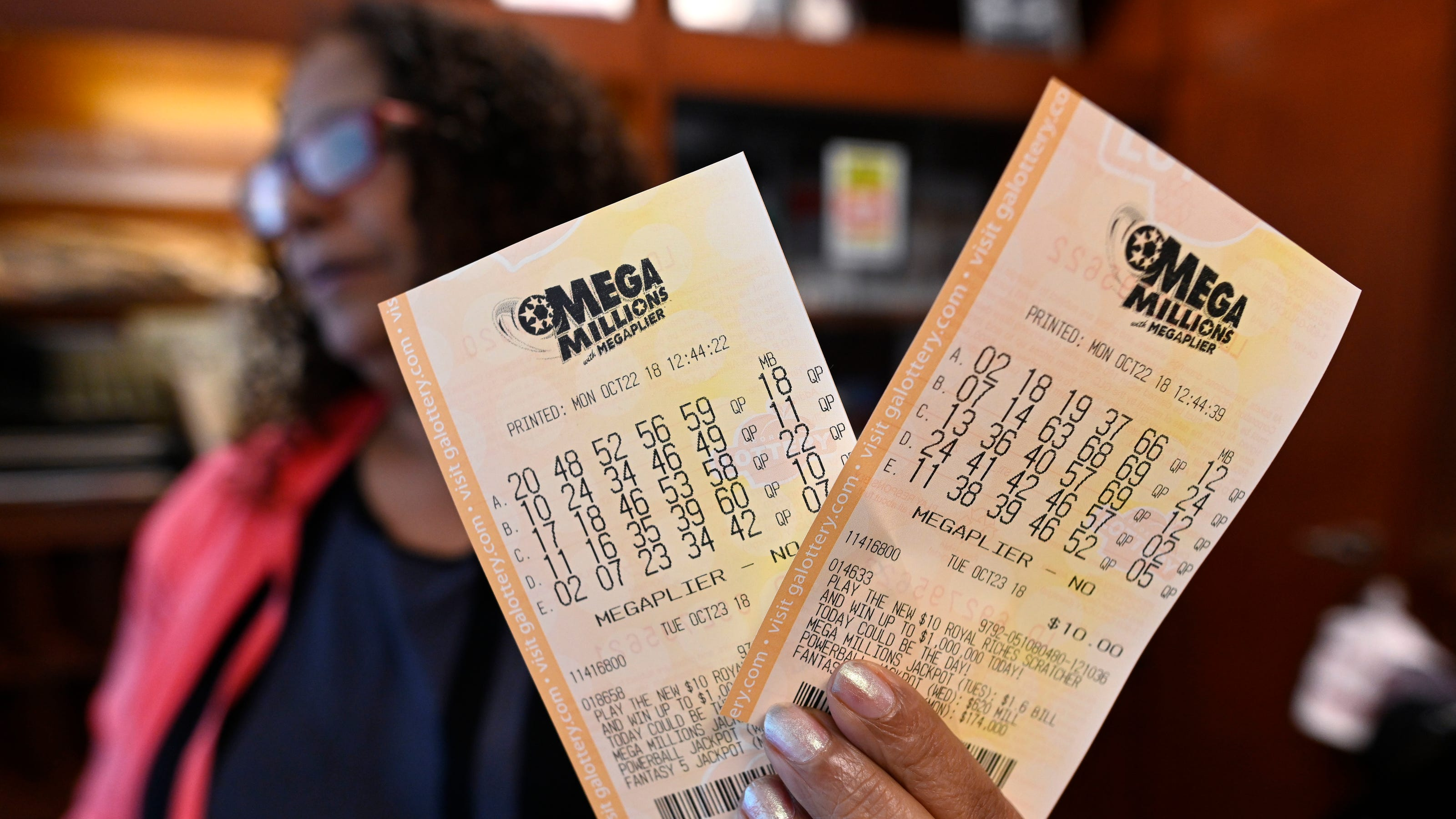 What are the most and least common Mega Millions numbers?