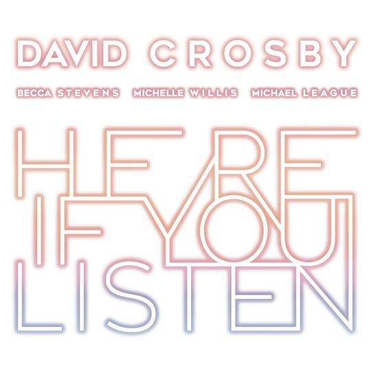 "This cover image released by BMG shows ""Here If You Listen,"" a release by David Crosby. (BMG via AP)"