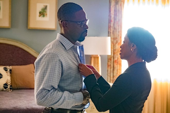 """Sterling K. Brown as Randall Pearson and Susan Kelechi Watson as Beth Pearson on """"This Is Us."""""""