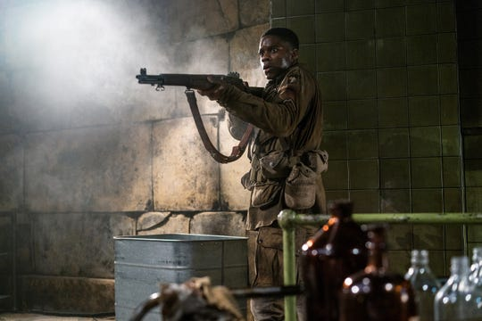 """Jovan Adepo plays an American paratrooper who fights Nazis and zombies in the World War II horror film """"Overlord."""""""