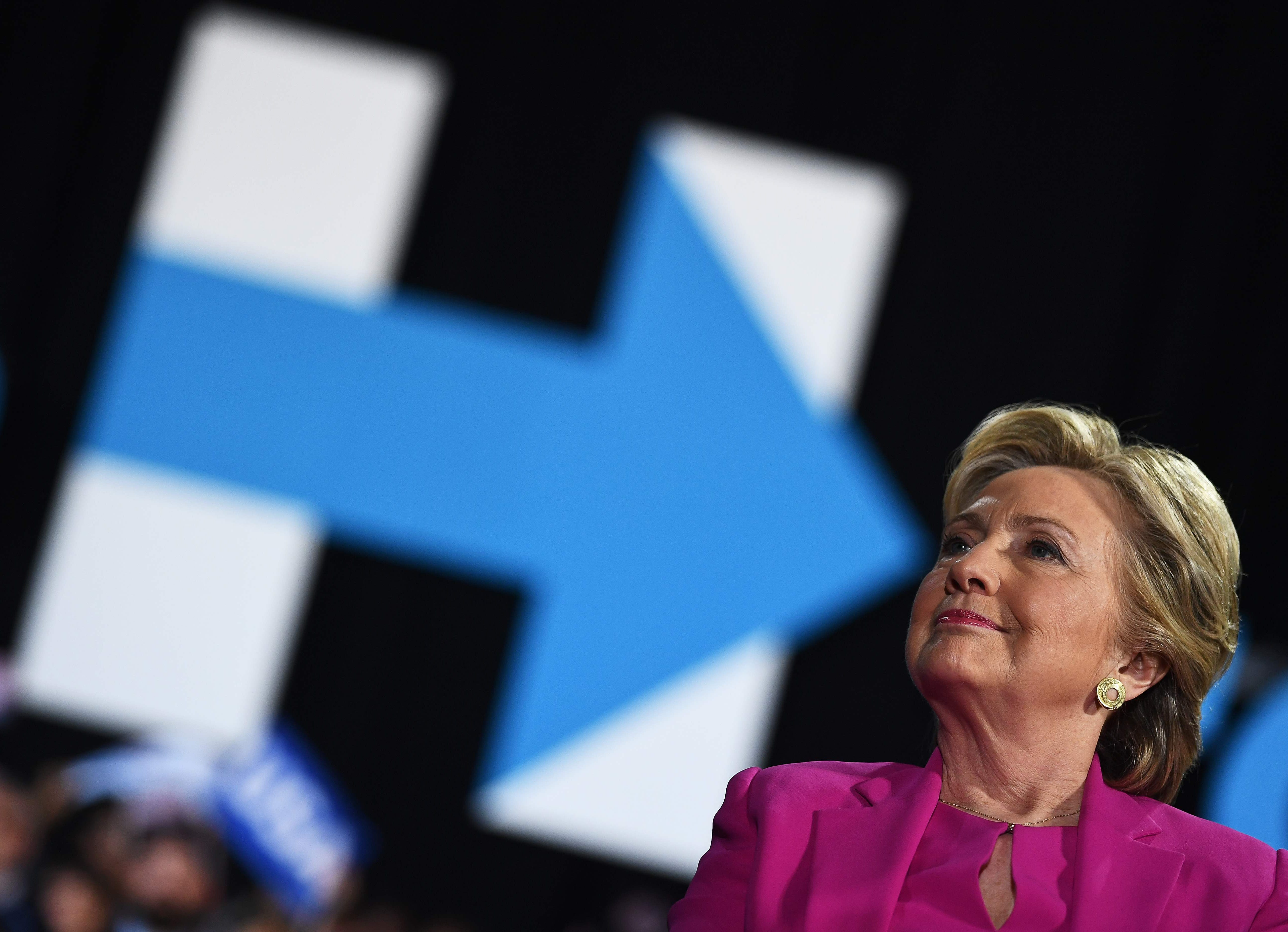US Democratic presidential nominee Hillary Clinton speaks during a campaign rally in Raleigh, North Carolina, on November 3, 2016.