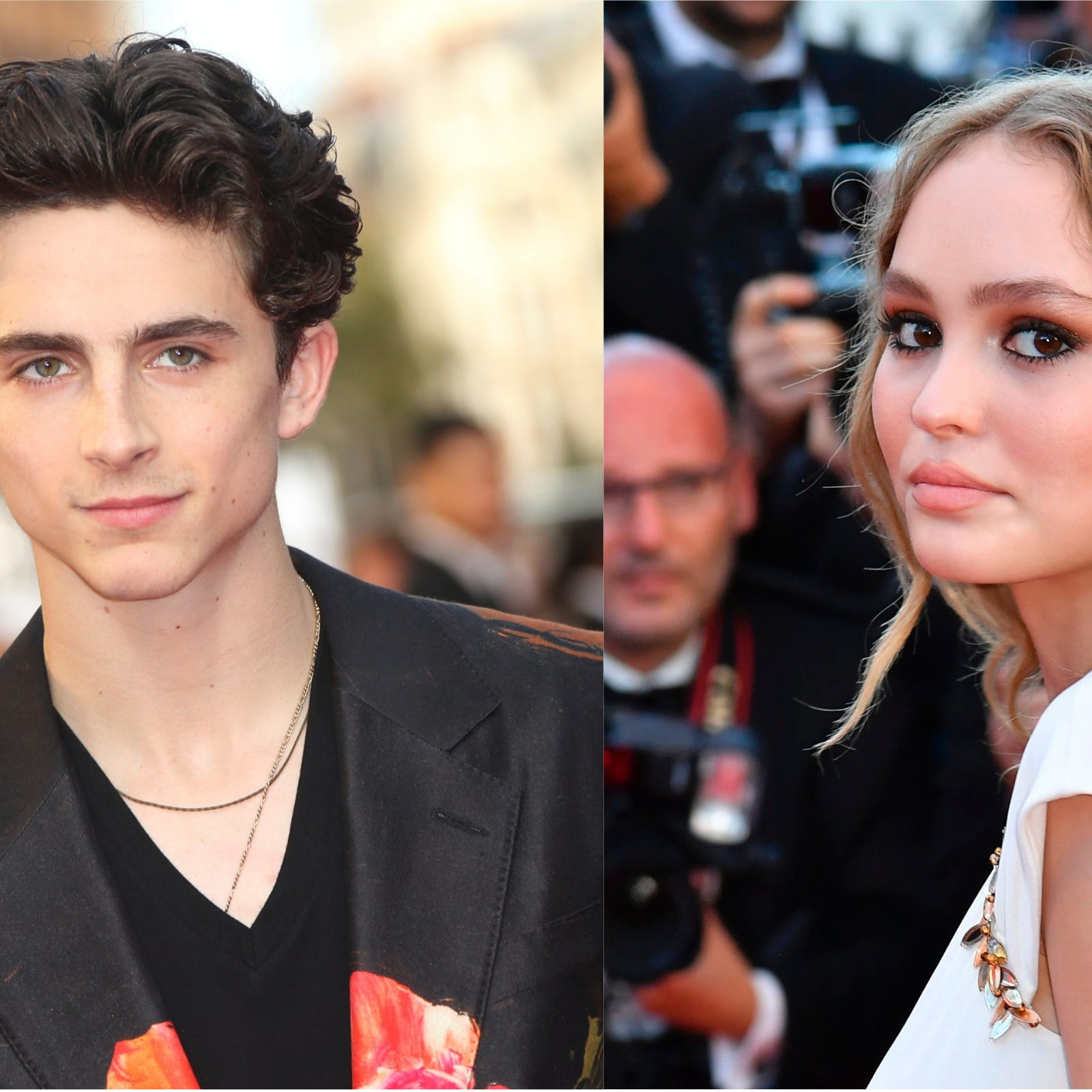 Timothée Chalamet and Lily-Rose Depp seemed to confirm a romance with a very public kiss.