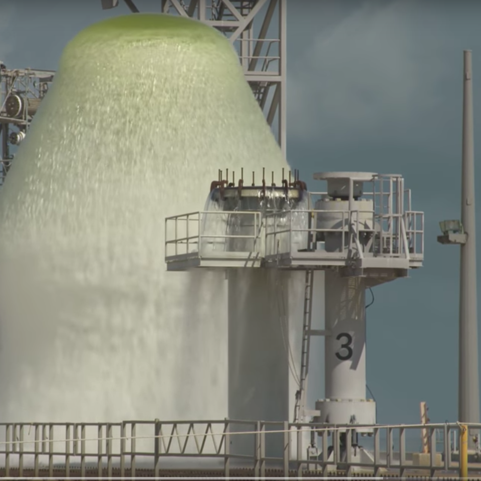 Watch: NASA releases 450,000 gallons of water in one minute