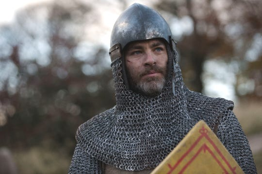 "Chris Pine is the titular ""Outlaw King"" in this period piece."