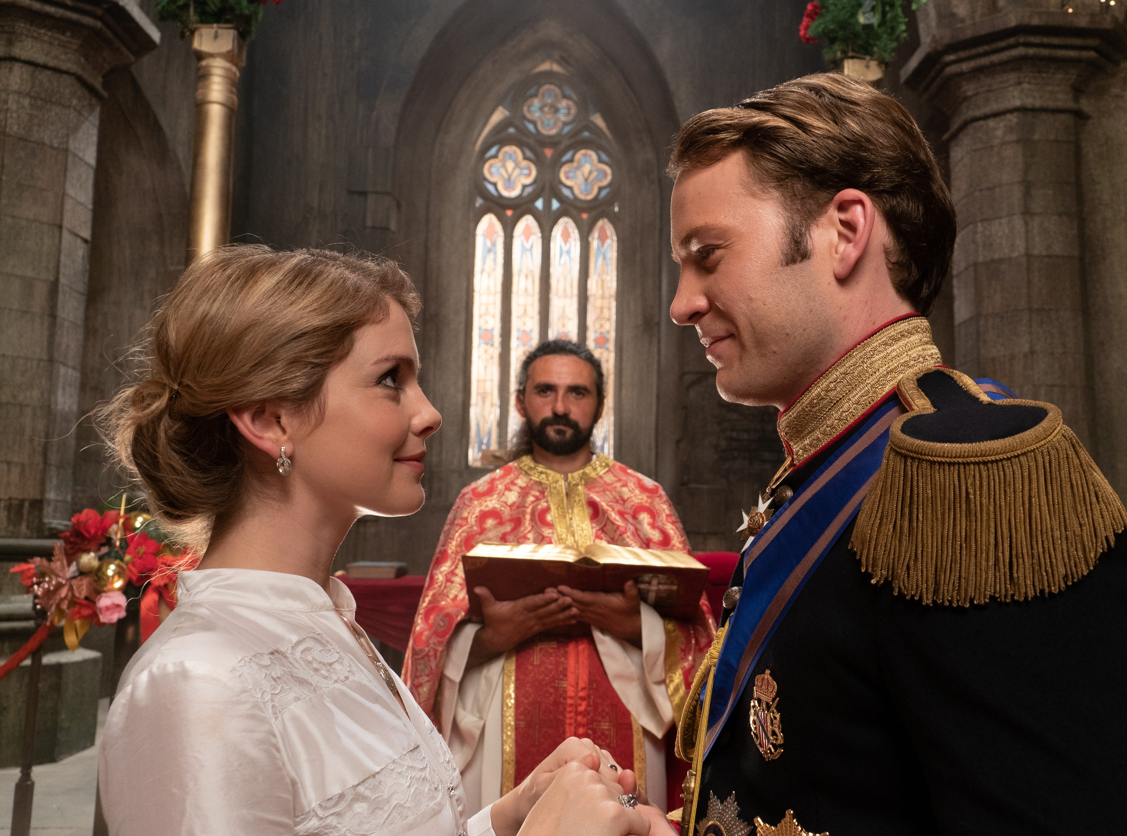 """""""A Christmas Prince: The Royal Wedding"""" (Netflix, Nov. 30): As they prepare for their wedding, Amber (Rose McIver) begins to second-guess herself while Richard (Ben Lamb) has to deal with a political crisis."""