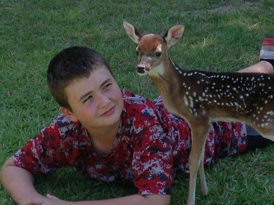 As a young deer, George was always close to Kaleb Funderburk.