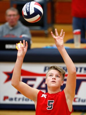 Chase Robinson is one of the senior captains on the Kimberly boys volleyball team that is making its first appearance at the WIAA state tournament this weekend at Wisconsin Lutheran College in Milwaukee. Danny Damiani/USA TODAY NETWORK-Wisconsin