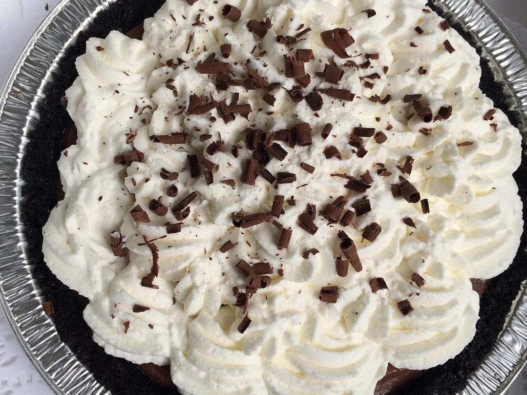 Chocolate cream pie with an Oreo crust from Sweet Marie's Bakery, which soon will open as 502 Baking Company in Brick.