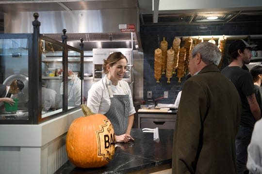 Asheville chef and restauranteur Katie Button and staff prepared her newest restaurant, Button & Co. Bagels on Lexington Avenue for a friends and family preview on Oct. 24, 2018. The restaurant opens to the public on Friday.