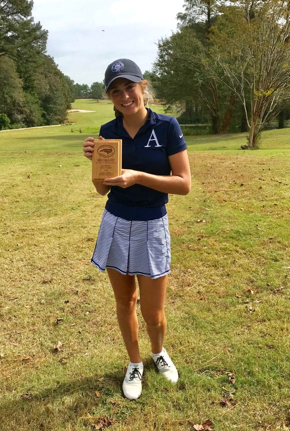 Asheville School senior Rachel Kuehn won her third consecutive NCISAA Division II State Golf Championship on Tuesday.