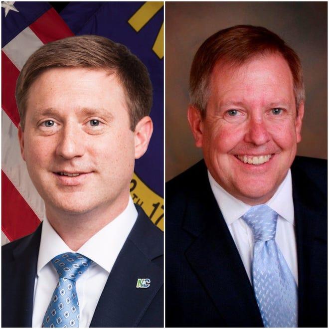 Superior Court Judge Andrew Heath, left, and N.C. Court of Appeals Judge John Arrowood