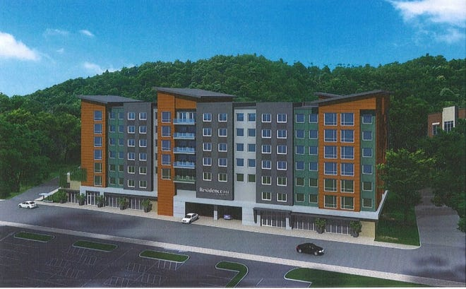 Developers from Milan Asheville LLC have proposed a seven-story, 103-room Extended Stay Hotel at 324 Biltmore Ave. The plan was pulled from consideration during an October 2018 meeting after several members of Asheville City Council expressed opposition to hotel projects amid concerns about the lack of affordable housing options in the city.