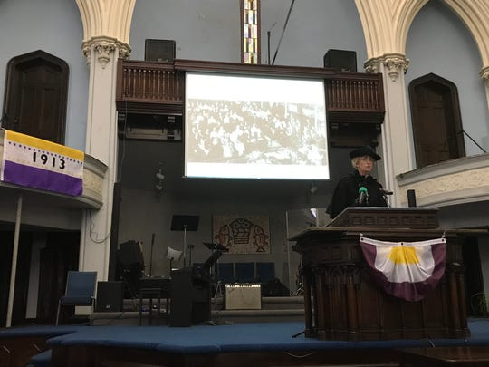 New York state's Path Through History Weekend was celebrated in Binghamton on Oct. 6 with a re-enactment of the 1913 New York State Woman Suffrage Association Convention.
