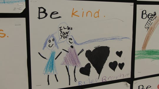 Art from a student to promote kindness.