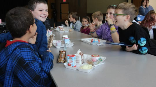 Windsor held a mix-it-up lunch to encourage students to sit with different students than usual.