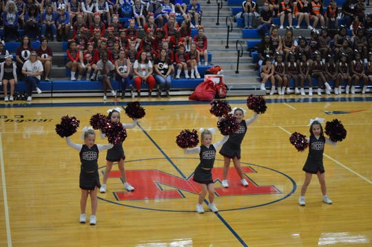 The Owen Termites, who placed fourth in the Eastern Division competition on Sept. 30, perform on Oct. 7 at the WNC Cheer Championship at Madison High School.