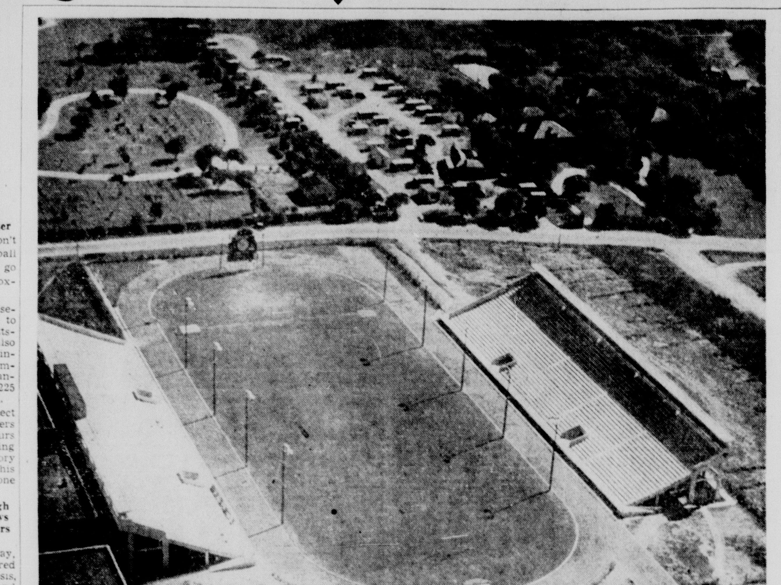 Buc Stadium's formal opening ceremonies were Sept. 19, 1941, as seen in this photo from the Caller-Times of that day.