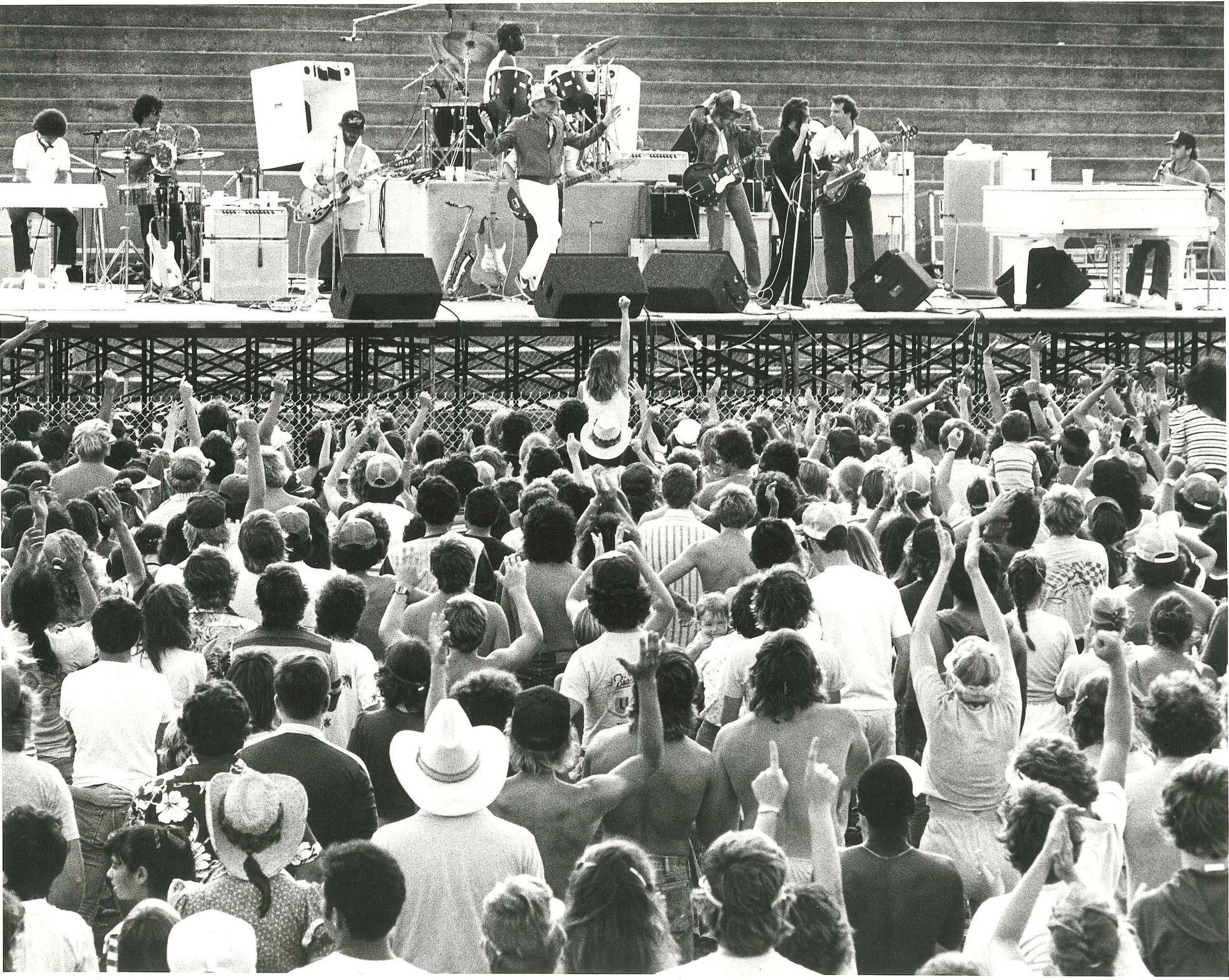 1982 Beach Boys concert at Buc Stadium part of Pat Magee's Sea Fest.