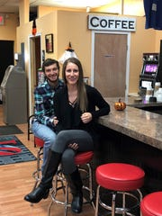 Luke Albright and Allie Scott filmed scenes at the Pennsauken Sweet Shop for an episode of 'House Hunters.' The episode that feature's the couple's home search in Camden County will air on Oct. 30.