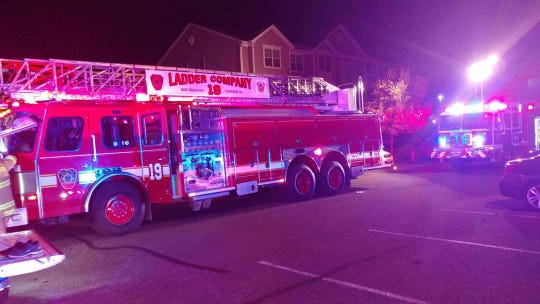 Firefighters found smoke inside an apartment in East Greenwich.