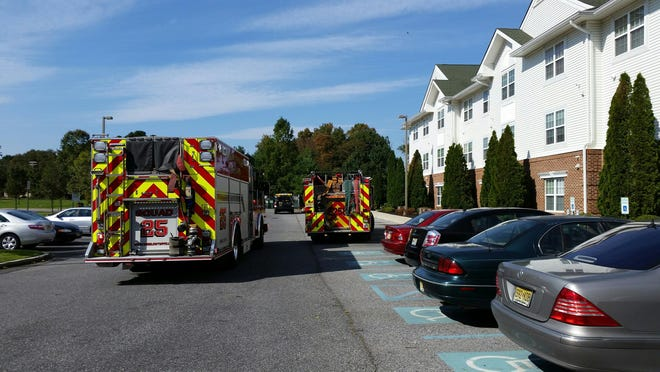A kitchen fire prompted evacuations at a senior citizen apartment building in Winslow on Tuesday.