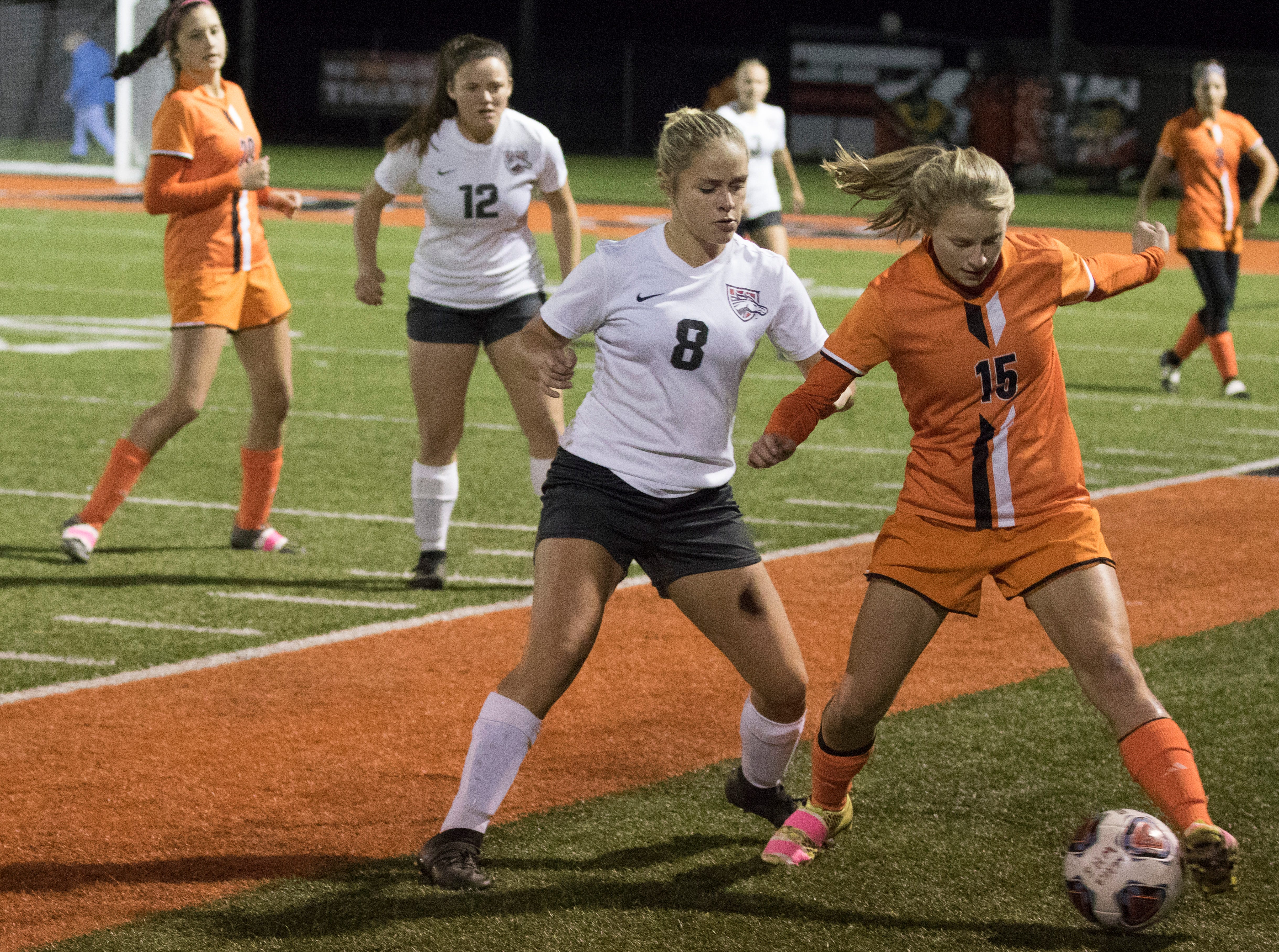 Westfall fell to Wheelersburg in girls soccer during a division three district semifinal  in Waverly, Ohio, Tuesday evening 1-0.